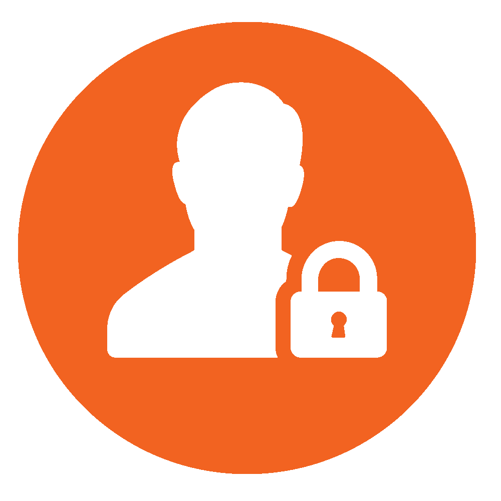 Circular icon symbolizing Security