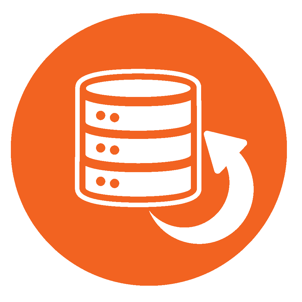 Circular icon symbolizing Backup